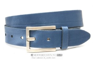 4cm blauwe riem - jeans riem blauw bl40075