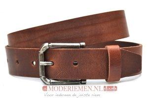 4cm bruine riem -  jeans riem bruin met donkere gesp br410