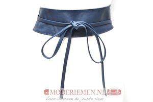 8 cm brede dames riem donkerblauw Unleaded