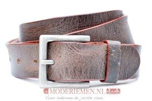 4cm donkerbruine riem - jeans riem donkerbruin Timbelt co605TB
