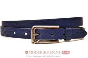 2cm dames riem blauw snake Take-it dbl414snakeTB