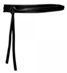 3,5 cm knoopriem zwart U35386