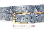 2cm smalle riem Unleaded blauw U20918/02/08