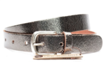 3cm bronzen riem Unleaded dames riem zilver/brons crack leder U30877