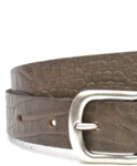 3cm taupe / grijze riem met croco print Unleaded U30874