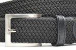 3,5 cm zwarte elastische riem TBe