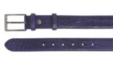 3,5 cm blauwe pantalon riem croco 35577_
