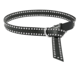 4cm lange zwarte riem zilver 0510408_