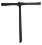 3cm lange zwarte riem 2642_