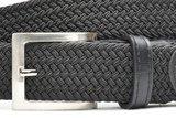 3,5 cm zwarte elastische riem TBe_