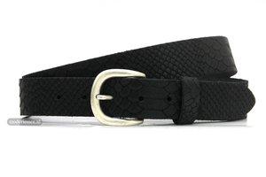 3,5cm riem nubuck zwart zw300snake