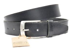 4 cm jeans riem zwart 622-1