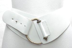 8cm brede dames riem wit wi8120TB