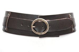 8cm donkerbruine heupriem - brede dames riem bruin van het merk Take-it TB8200BR