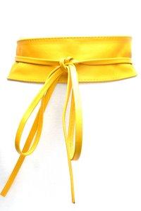 8 cm brede dames riem geel Unleaded