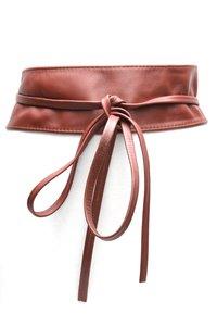 8 cm brede dames riem donkerbruin Unleaded