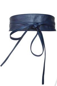8 cm knoopriem riem donkerblauw Unleaded