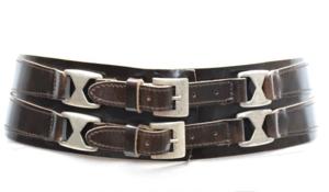 8cm brede dames riem donkerbruin - bruine heupriem Take-it br020TB
