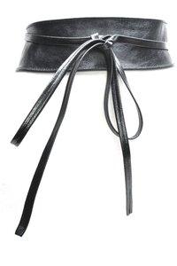 8 cm brede knoopriem metallic zwart 80205