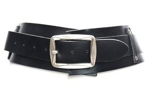 8 cm brede dames riem zwart 8150