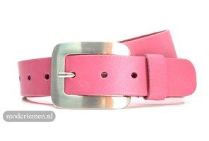 4cm roze riem - dames riem roze Zingg4roze