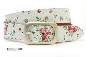 4cm dames riem met bloemen print mc401