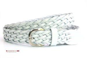 3,5cm gevlochten riem wit wi350gevl