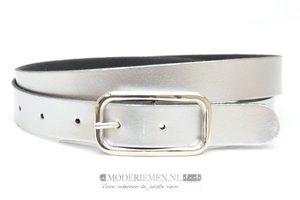 3cm zilveren riem -  dames riem zilver zi302
