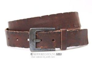 4cm bruine riem - jeans riem donkerbruin br40410