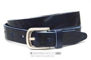 3,5cm blauwe riem - jeans riem blauw bl35805