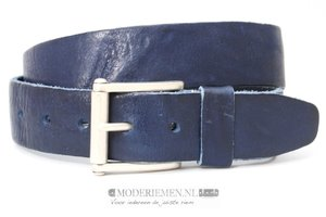 4,5cm blauwe riem - stoere blauwe jeans riem bl45413