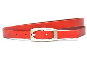 1,5cm rode riem - smalle dames riem rood ro151