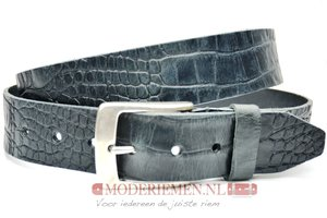 4cm zwarte riem met croco print - jeans riem zwart Timbelt zw622TB