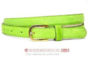 2cm groene suède dames riem - smalle riem groen groen200suede