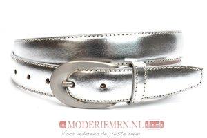 3cm zilveren riem - dames riem zilver zilver300am