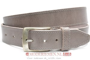 4cm grijze riem - jeans riem grijs Timbelt gr622-1TB