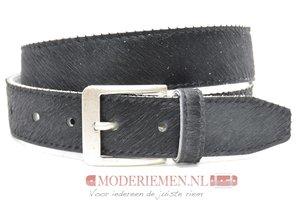 4cm jeans riem koebont zwart koezw409