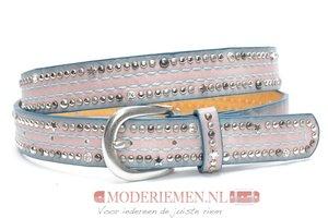 3cm roze jeans riem met studs roze Joss SA826