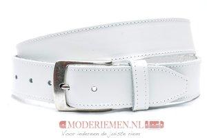 4cm witte riem - jeans riem wit volnerf leder Timbelt wi622-1TB