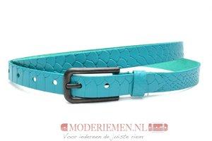 2cm smalle riem turquoise met snake structuur Take-it tur414snake