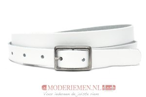 2cm smalle witte dames riem wi203