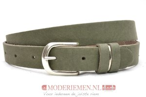 2,5 cm jeans riem army green Unleaded U25386
