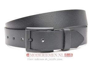 4cm zwarte riem - jeans riem zwart zw40602am