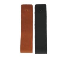 Leren handgreep XXL 4cm breed zwart  HG331 zwart