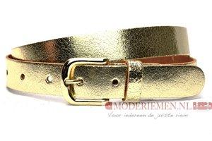 3cm gouden riem Unleaded dames riem goud crack leder U30877