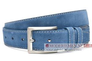 4cm lichtblauwe riem -  suède riem lichtblauw lbl400am