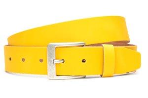 4cm gele riem - jeans riem geel ge409