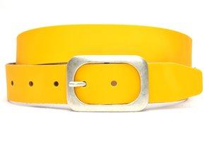 4cm gele riem - jeans riem geel ge405