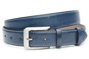 3,5cm pantalon riem blauw geschuurd bl0014am