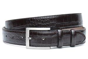 3,5cm bruine pantalon riem - bruine croco riem brcr350am